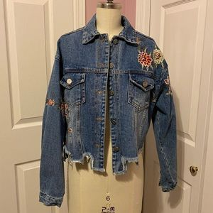 Floral jean jacket
